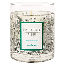 Buy John Lewis Glitter Star Large Gel Candle, Silver Online at johnlewis.com