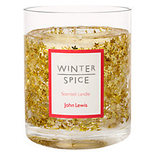 Buy John Lewis Glitter Star Large Gel Candle, Gold Online at johnlewis.com