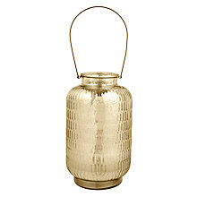 Buy John Lewis Mercurised Large Glass Lantern Online at johnlewis.com