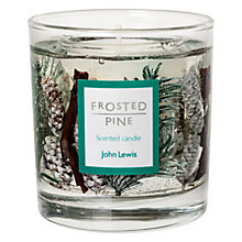 Buy John Lewis Frosted Pine Medium Gel Candle Online at johnlewis.com