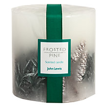 Buy John Lewis Frosted Pine Inclusion Candle Online at johnlewis.com