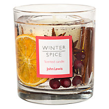 Buy John Lewis Winter Spice Medium Gel Candle Online at johnlewis.com