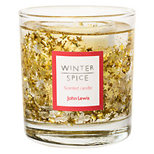 Buy John Lewis Glitter Star Medium Gel Candle, Gold Online at johnlewis.com