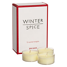 Buy John Lewis Winter Spice Tealights, Pack of 12 Online at johnlewis.com