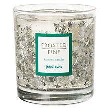 Buy John Lewis Glitter Star Medium Gel Candle, Silver Online at johnlewis.com