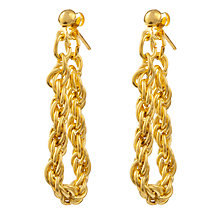 Buy Susan Caplan for John Lewis 1980s Gold Plated Rope Chain Drop Earrings, Gold Online at johnlewis.com