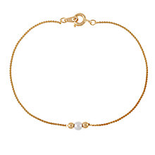 Buy Susan Caplan for John Lewis 1980s Gold Plated Faux Pearl Bracelet, Gold Online at johnlewis.com