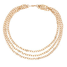 Buy Susan Caplan for John Lewis 1980s Gold Plated Multichain Necklace, Gold Online at johnlewis.com
