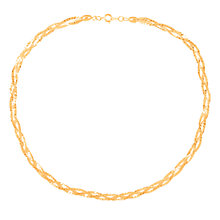 Buy Susan Caplan for John Lewis 1980s Gold Plated Braided Necklace, Gold Online at johnlewis.com