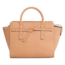 Buy Mango Large Knot Across Body Bag, Light Pastel Brown Online at johnlewis.com
