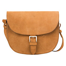 Buy Mango Buckle Suede Saddle Bag Online at johnlewis.com