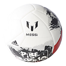 Buy Adidas Messi10 Football, Black/White/Red Online at johnlewis.com
