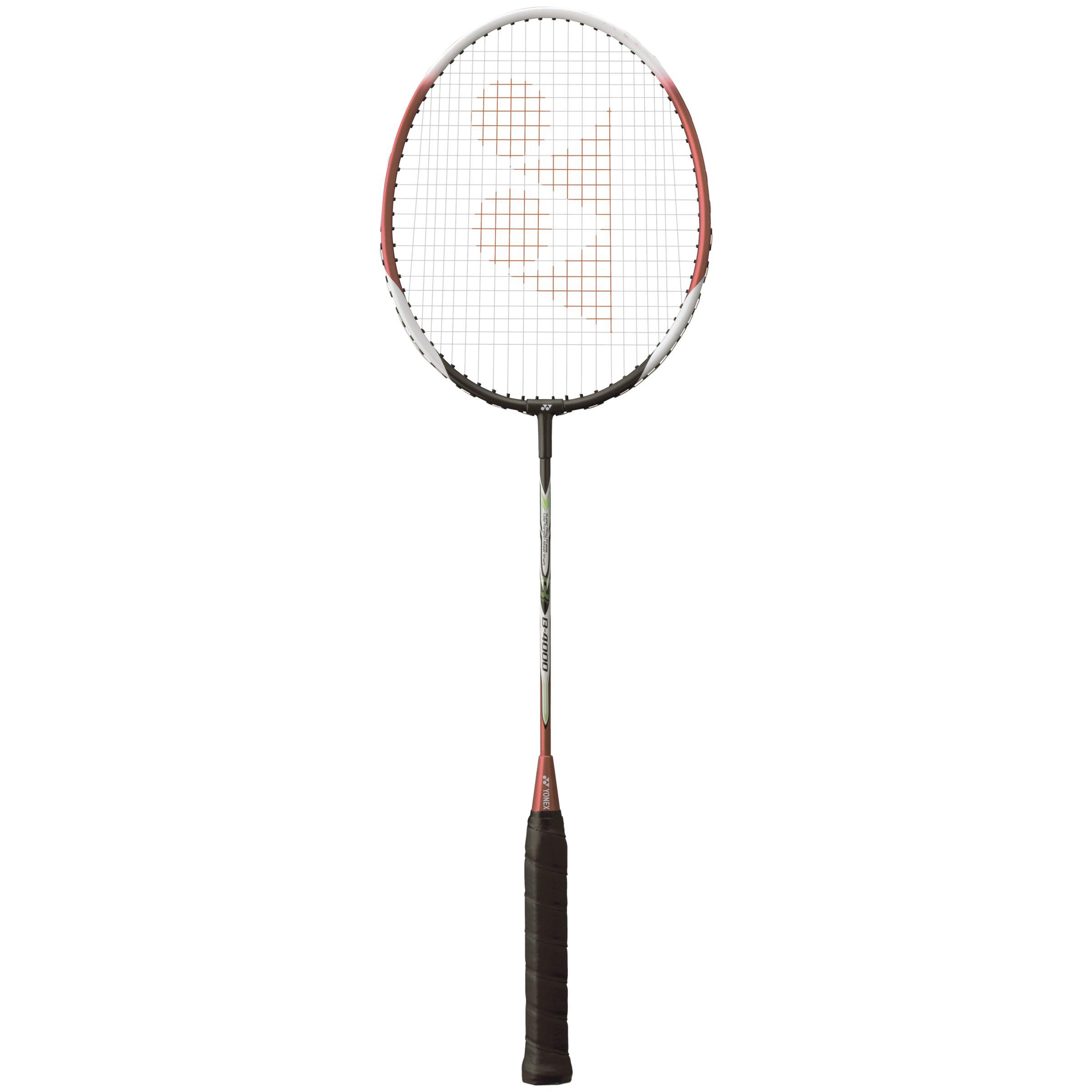Yonex Yonex B-4000 Badminton Racquet, Red/White