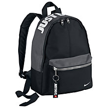 Buy Nike Classic Kids' Backpack, Black/Dark Grey Online at johnlewis.com