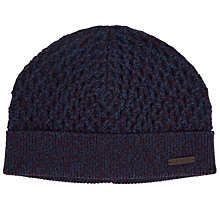 Buy Ted Baker Twist Knit Beanie, Deep Purple Online at johnlewis.com