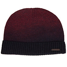 Buy Ted Baker Spray Ombre Beanie, One Size, Dark Red Online at johnlewis.com