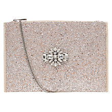 Buy Miss KG Helena Bejewelled Clutch Bag, Silver Online at johnlewis.com
