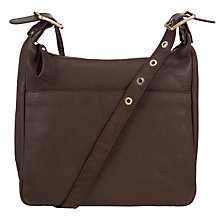 Buy John Lewis Coney Leather Pocket Across Body Bag, Grey Online at johnlewis.com