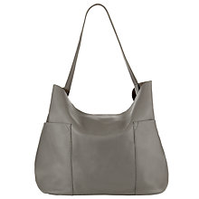 Buy Collection WEEKEND by John Lewis Magda Raw Edge Leather Shoulder Bag Online at johnlewis.com