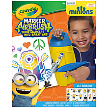 Buy Crayola Minions Marker Airbrush Set Online at johnlewis.com
