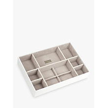 Buy Stackers Supersize Deep 11-Section Jewellery Box, White Online at johnlewis.com