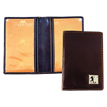 Buy TYLER & TYLER Rugby Conversion Leather Travel Card Holder, Brown Online at johnlewis.com