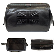 Buy TYLER & TYLER Union Jack Washbag, Black Online at johnlewis.com