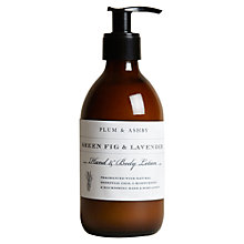 Buy Plum & Ashby Green Fig & Lavender Hand Lotion, 300ml Online at johnlewis.com