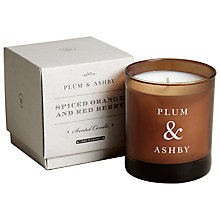 Buy Plum & Ashby Spiced Orange and Red Berry Scented Candle Online at johnlewis.com