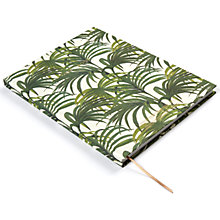 Buy House of Hackney Palmeral Print A4 Notebook, White/Green Online at johnlewis.com