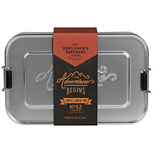 Buy Gentlemen's Hardware Metal Lunch Box, Large Online at johnlewis.com