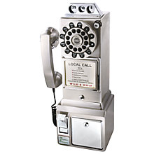 Buy Wild & Wolf 1950s Diner Chrome Telephone Online at johnlewis.com