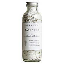 Buy Plum & Ashby Lavender Bath Salts Online at johnlewis.com