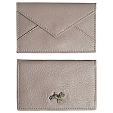 Buy Plum & Ashby Leather Card Holder, Taupe Online at johnlewis.com
