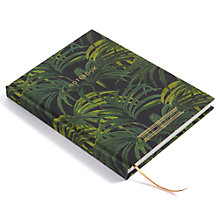 Buy House of Hackney Palmeral Print A5 Notebook, Midnight Online at johnlewis.com