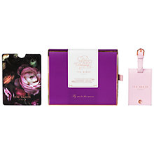 Buy Ted Baker Shadow Floral Passport and Luggage Tag Online at johnlewis.com
