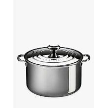 Buy Le Creuset Signature 3-Ply Stainless Steel Stockpot, Dia.24cm Online at johnlewis.com