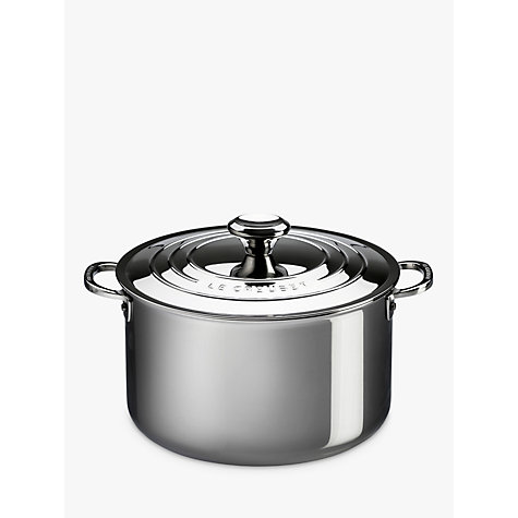 buy le creuset signature 3 ply stainless steel 24cm stockpot john lewis. Black Bedroom Furniture Sets. Home Design Ideas