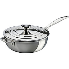 Buy Le Creuset Signature 3-Ply Stainless Steel Non-Stick 24cm Chef's Pan Online at johnlewis.com