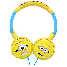 Buy Kitsound Children's Character On-Ear Headphones, Minions Online at johnlewis.com