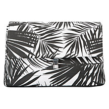 Buy Mango Palm Print Clutch Bag, Black Online at johnlewis.com