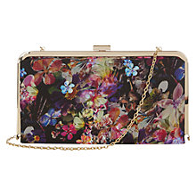 Buy Oasis Fluro Floral Clutch Bag, Black/Multi Online at johnlewis.com