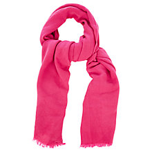 Buy Oasis Textured Scarf, Deep Pink Online at johnlewis.com