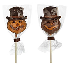 Buy Natalie Chocolates Orange & Milk Chocolate Pumpkin Lollies, 20g Online at johnlewis.com