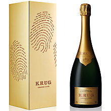 Buy Krug Grand Cuvée Gift Pack Champagne, 75cl Online at johnlewis.com
