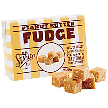 Buy Mr Stanley's Peanut Butter Fudge, 200g Online at johnlewis.com