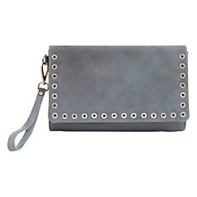 Buy Mint Velvet Adele Steel Clutch Bag, Grey Online at johnlewis.com