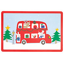 Buy John Lewis Christmas Bus Placemat Online at johnlewis.com