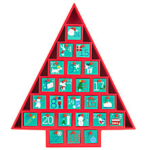 Buy John Lewis Wooden Christmas Advent Calendar Online at johnlewis.com
