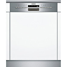 Buy Siemens SN56M531GB Semi-integrated Dishwasher, Stainless Steel Online at johnlewis.com